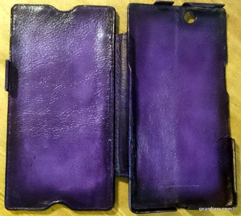 Gear Diary reviews the Noreve Sony Xperia Z Ultra Leather Case in Violet Patine.24
