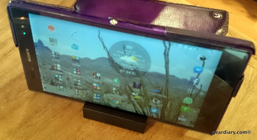 Gear Diary reviews the Noreve Sony Xperia Z Ultra Leather Case in Violet Patine.41