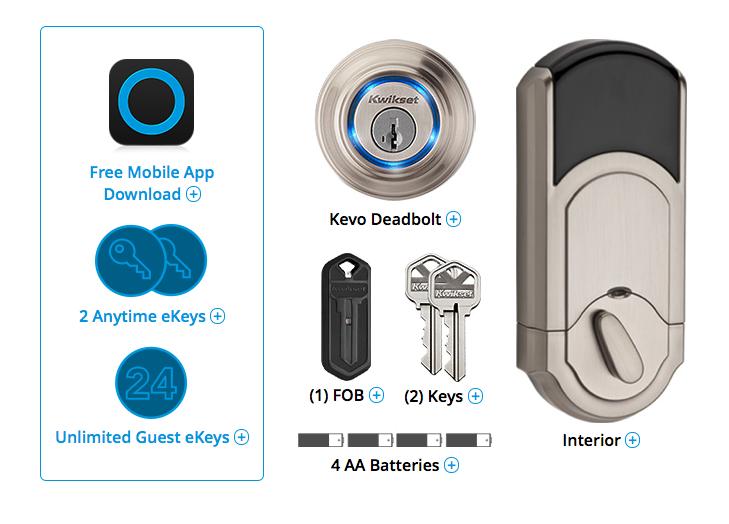 Kevo Smart Lock A Bluetooth Electronic Deadbolt from Kwikset
