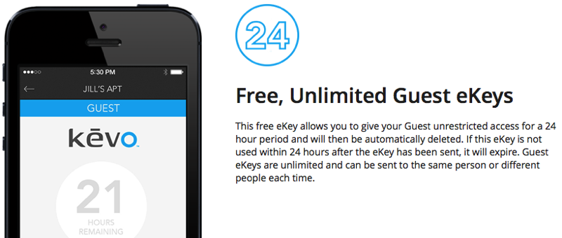 Kwikset Kevo Free and Unlimited Guest eKeys