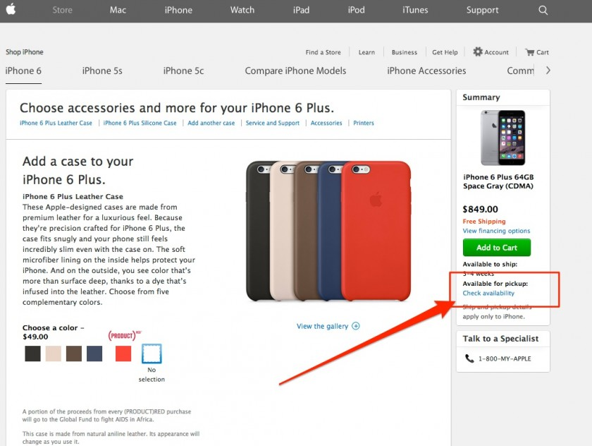 Skip The iPhone 6 Wait - Order Online and Pickup at the Apple Store