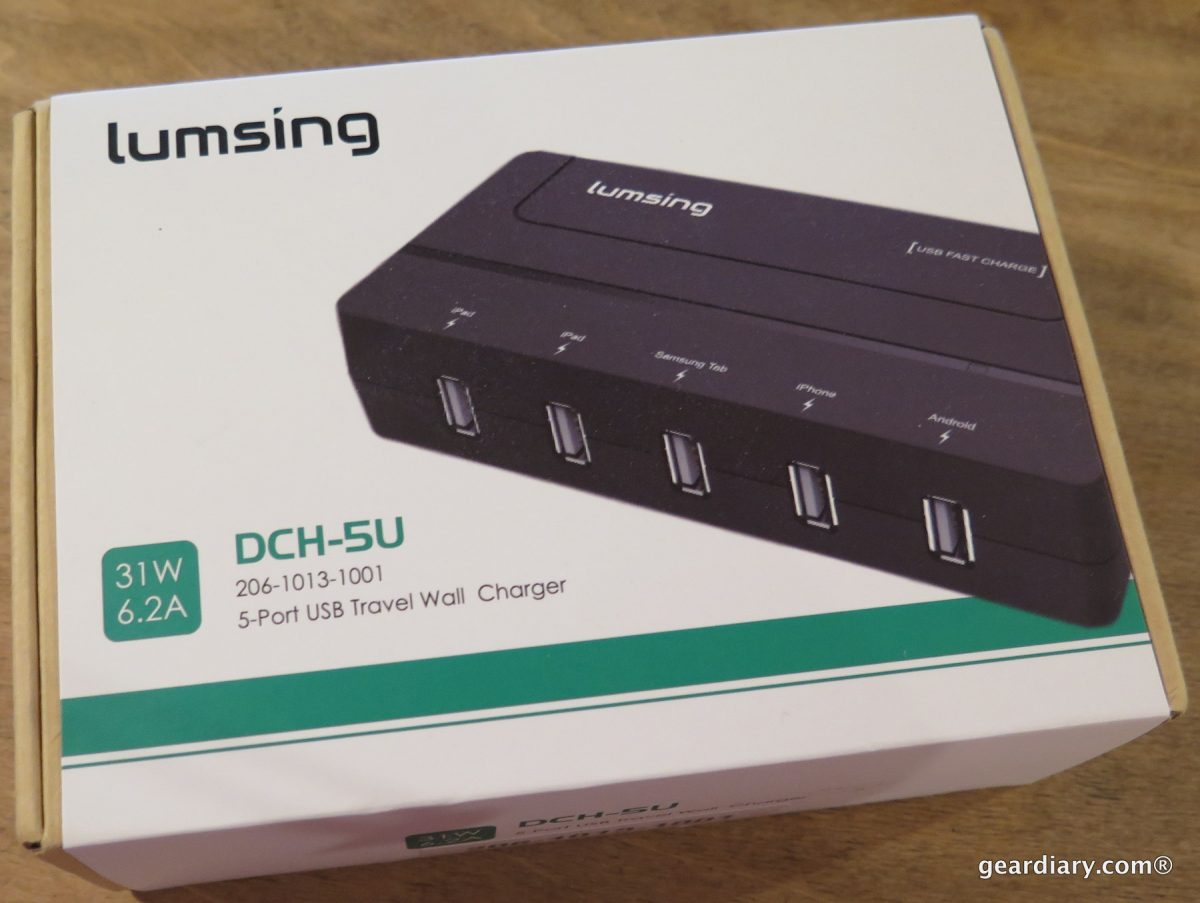 GearDiary Lumsing 5 Port USB Travel Charger Review