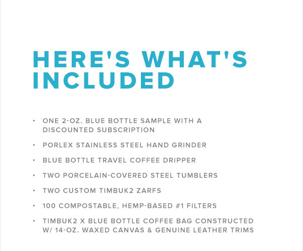 Timbuk2 x Blue Bottle Travel Kit2