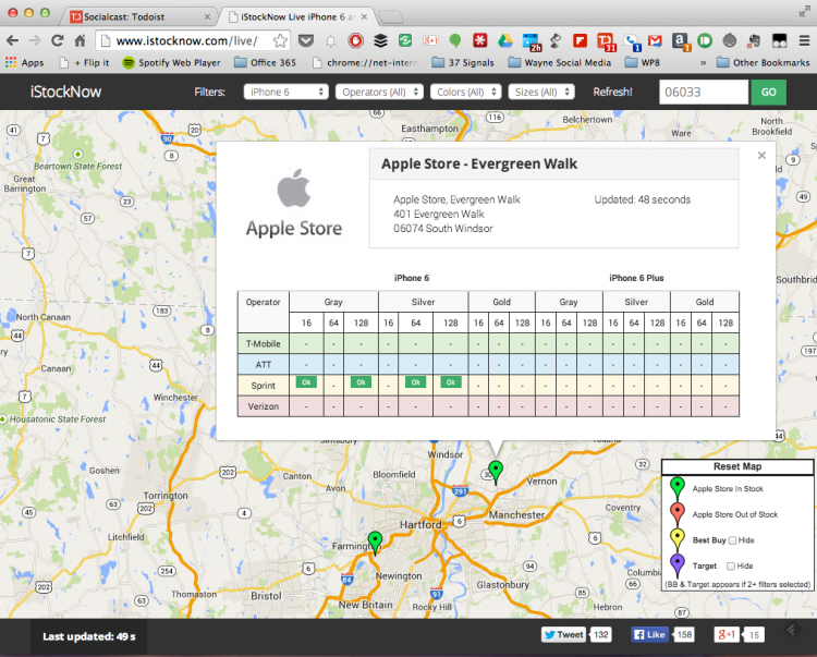 Check for Local Apple Store iPhone 6 Stock Online!
