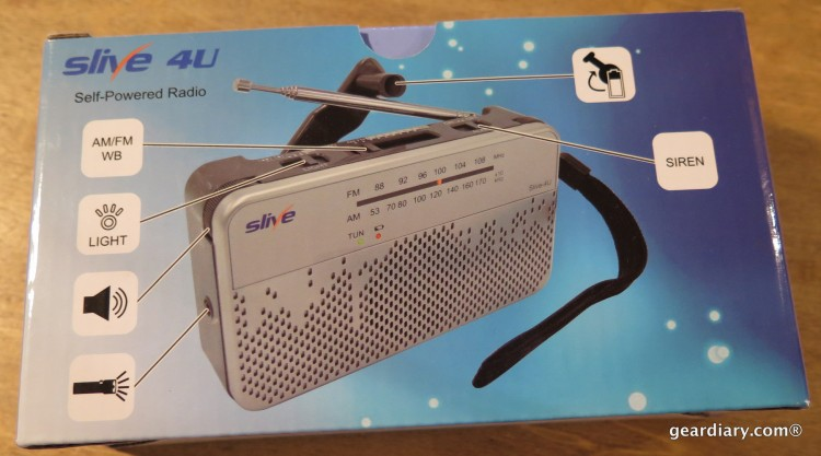 Gear Diary Reviews the SLIVE-4U Self-Powered AM:FM:WB Radio with Flashlight & Phone Charger
