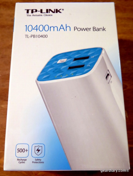 GearDiary TP-LINK 10400mAh Power Bank External Battery Review