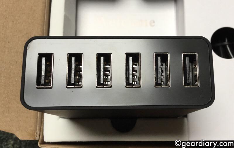 CHOETECH 50 Watt 6 Port Desktop Charger