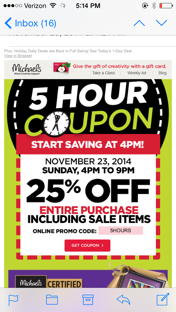 Michael's Proves Those Coupons Are a Raw Deal