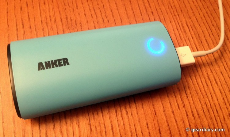 """The Astro while charging a device. It actually has a """"breathing"""" pattern, not unlike Macbooks."""