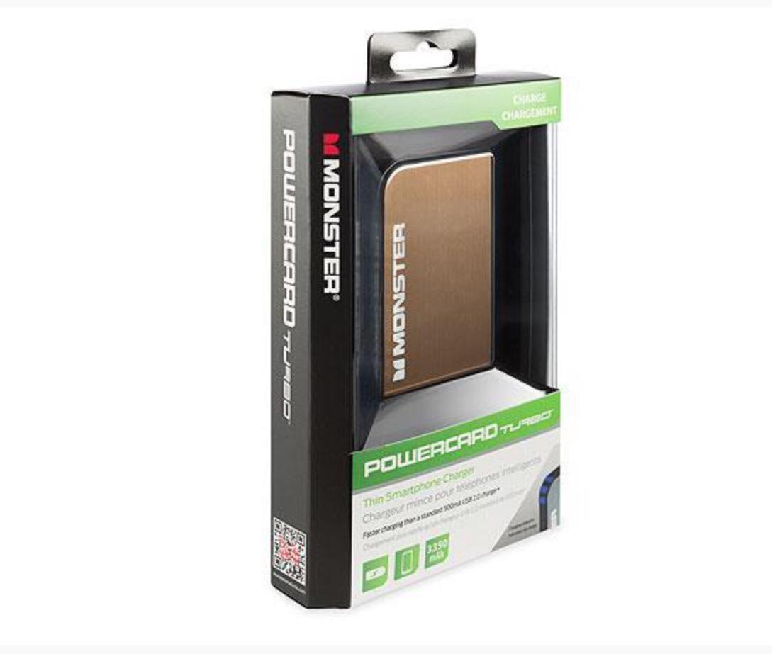 Monster Mobile PowerCard Turbo Portable External Battery