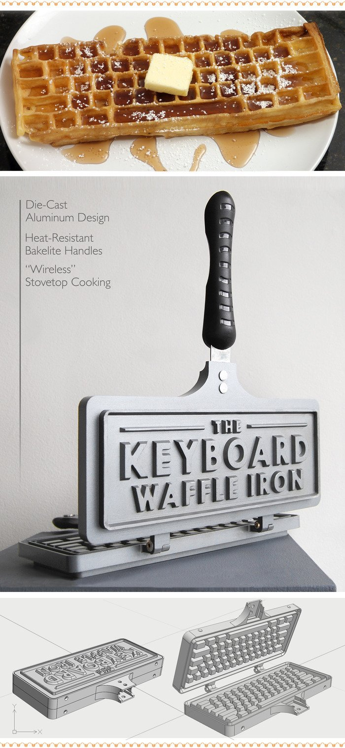 GearDiary Keyboard Waffle Iron Could Be the Greatest Holiday Gift Ever -- Next Year