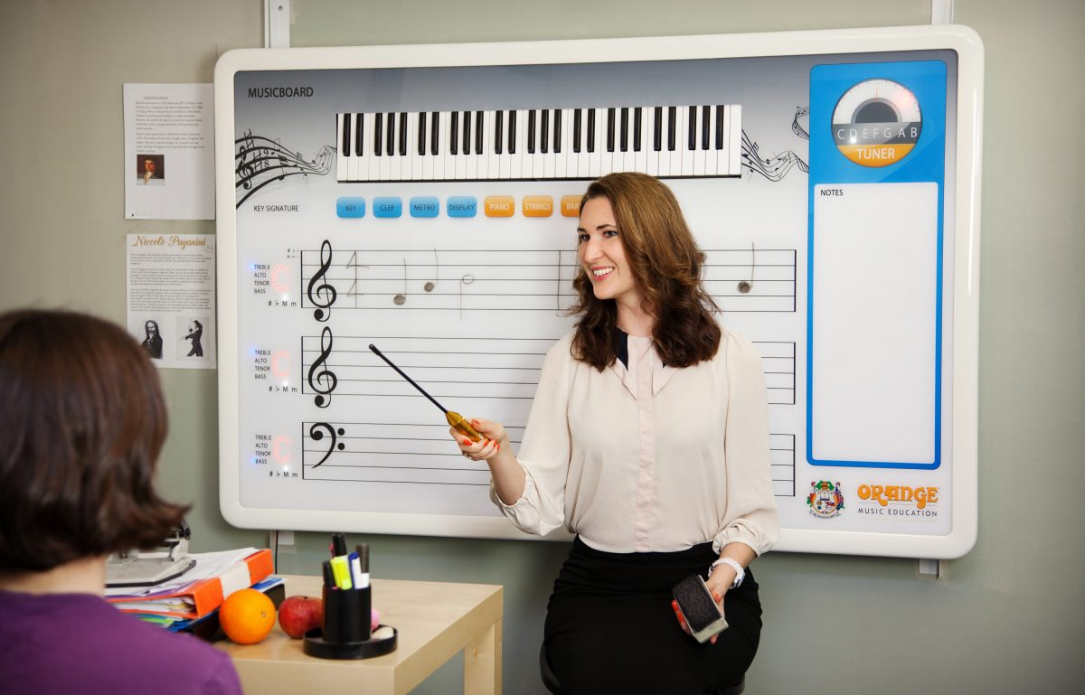 GearDiary Orange Announces the MusicBoard Interactive Whiteboard for Music Education!