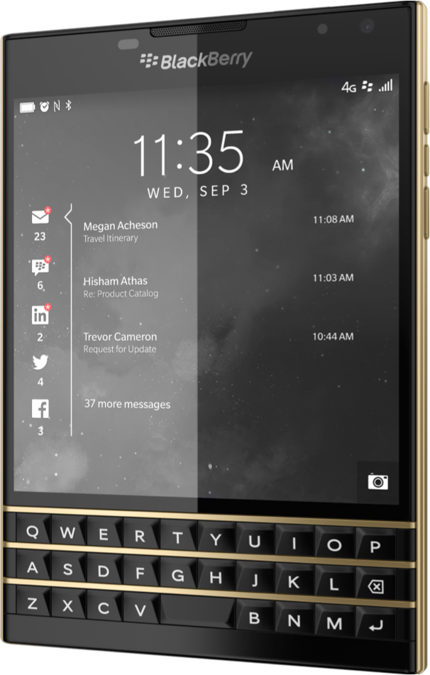 GearDiary BlackBerry Passport Now Available in Limited Edition Black Gold