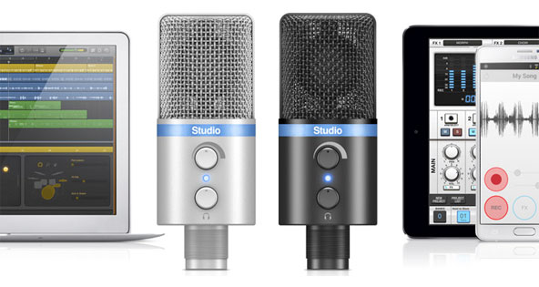 GearDiary IK Multimedia Announces iRig Mic Studio, Ultra-Portable Large Diaphragm Mic