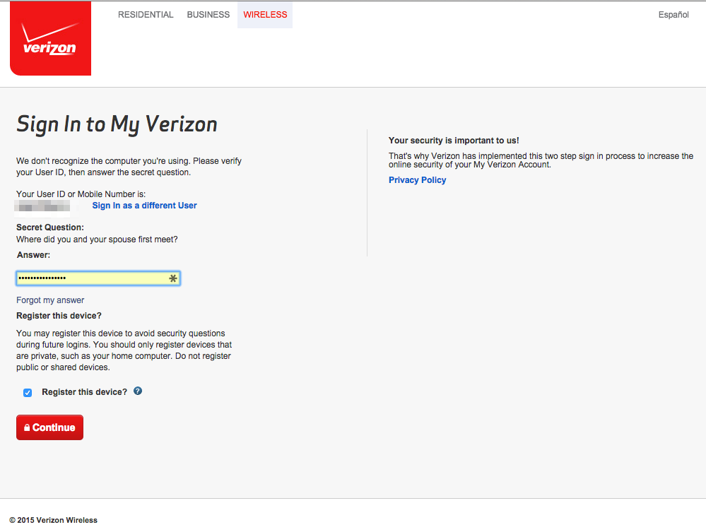 Verizon Security and Privacy Cloud Computing