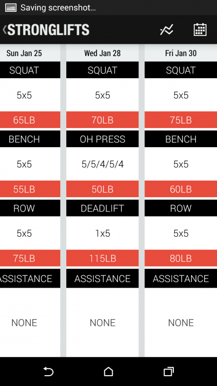 Stronglifts 5x5 App Review for Android: Handheld Encouragement