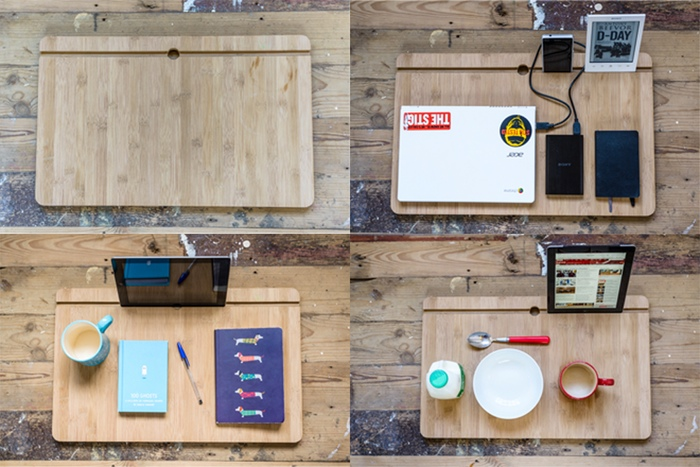 A few different options to choose from when you use your lap desk