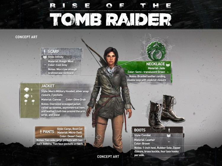 GearDiary Lara Croft's Gear in the Upcoming 'Rise of the Tomb Raider' Game