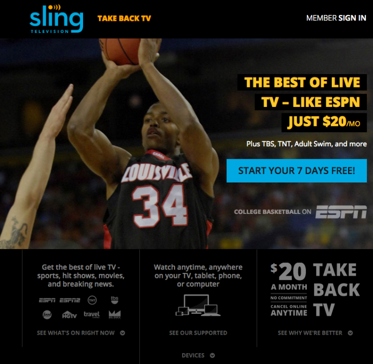 GearDiary Sling TV - An Interesting Glimpse at Where Online Viewing Is Headed