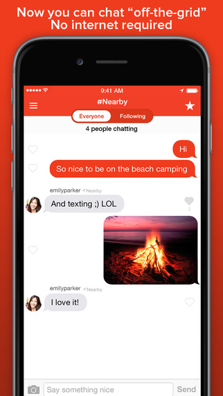 "GearDiary Firechat - ""Off-The-Grid"" Public Chat Without Using Internet/Coverage"