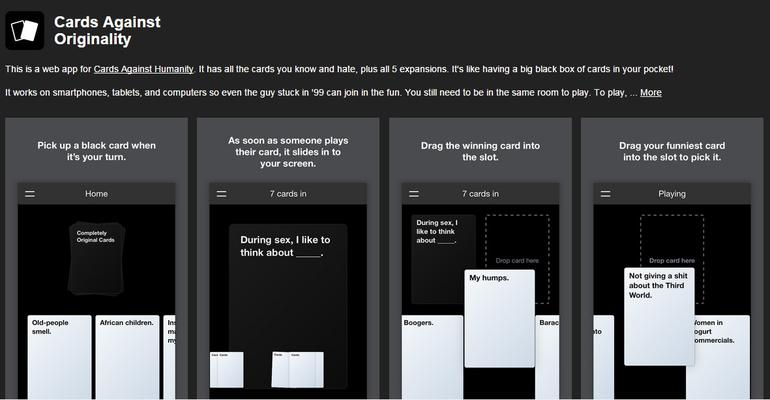 GearDiary A Party Game for Horrible People, Cards Against Humanity Available Online