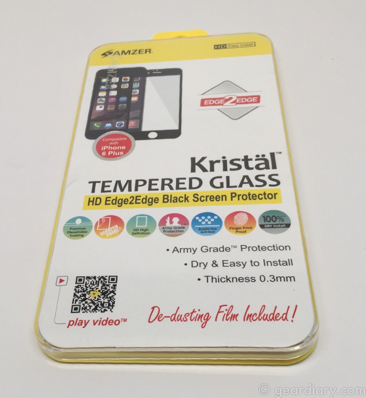 Amzer Kristal Edge2Edge Black Screen Protector for iPhone 6 Plus
