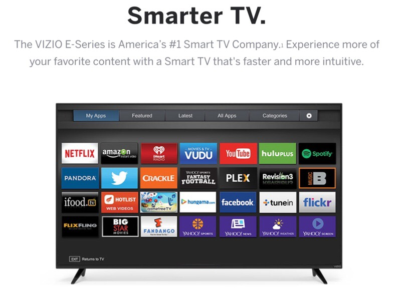 VIZIO E-Series of Televisions Are Big on Smarts, Small on Price