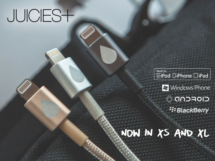Juicies is Back on Kickstarter with Their XL and XS Juicies+ USB Cables