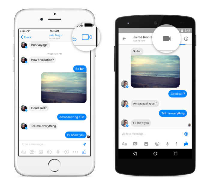 GearDiary Facebook Introduces Video Calling for Messenger