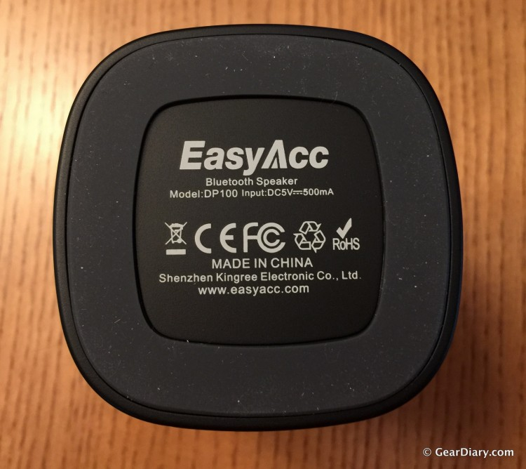 EasyAcc DP100 Bluetooth Speaker-Sound Sacrificed for Aesthetics
