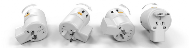 Twist World Travel Adapter