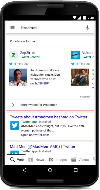 Google to Again Feature Twitter Live Feed In Some Searches