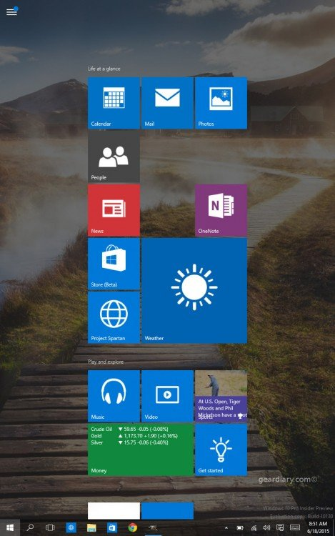 GearDiary Windows 10 Technical Preview on the HP Stream 7