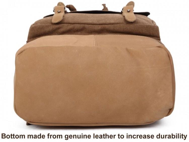 ebcdb0518ff69 GearDiary Serbags Canvas Travel Laptop School Backpack is Modern Vintage  Greatness!