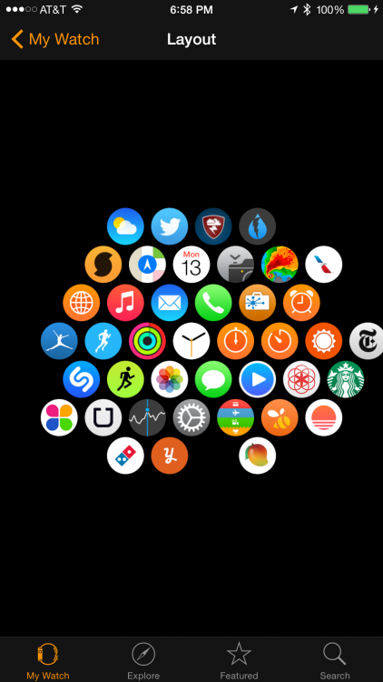 apple watch layout