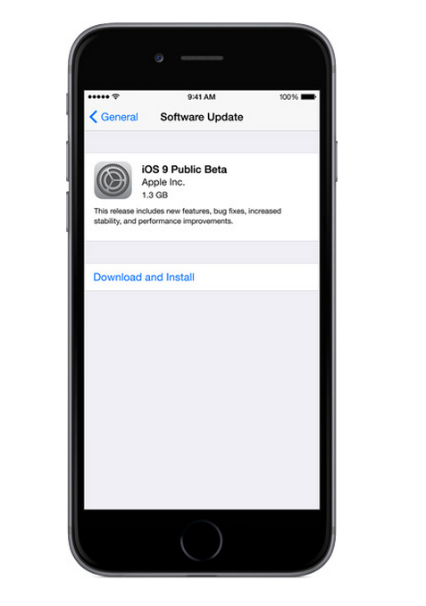 GearDiary iOS 9 Public Beta Available Now