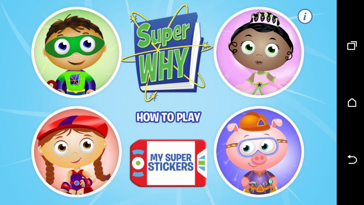 SUPER WHY For Android Gets Little Ones to Love Reading!