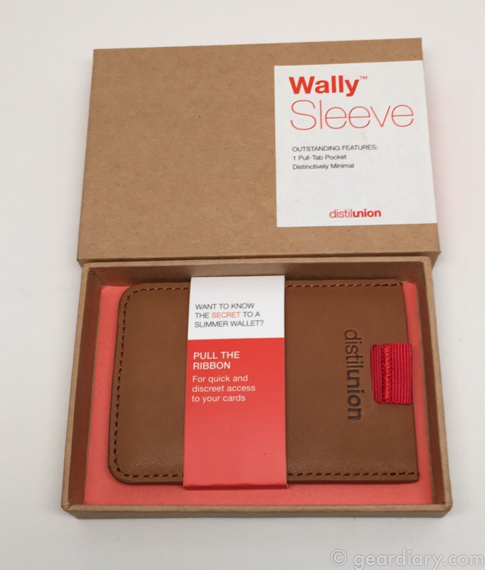 Distil Union Wally Sleeve Takes Minimalist Wallets to the Extreme
