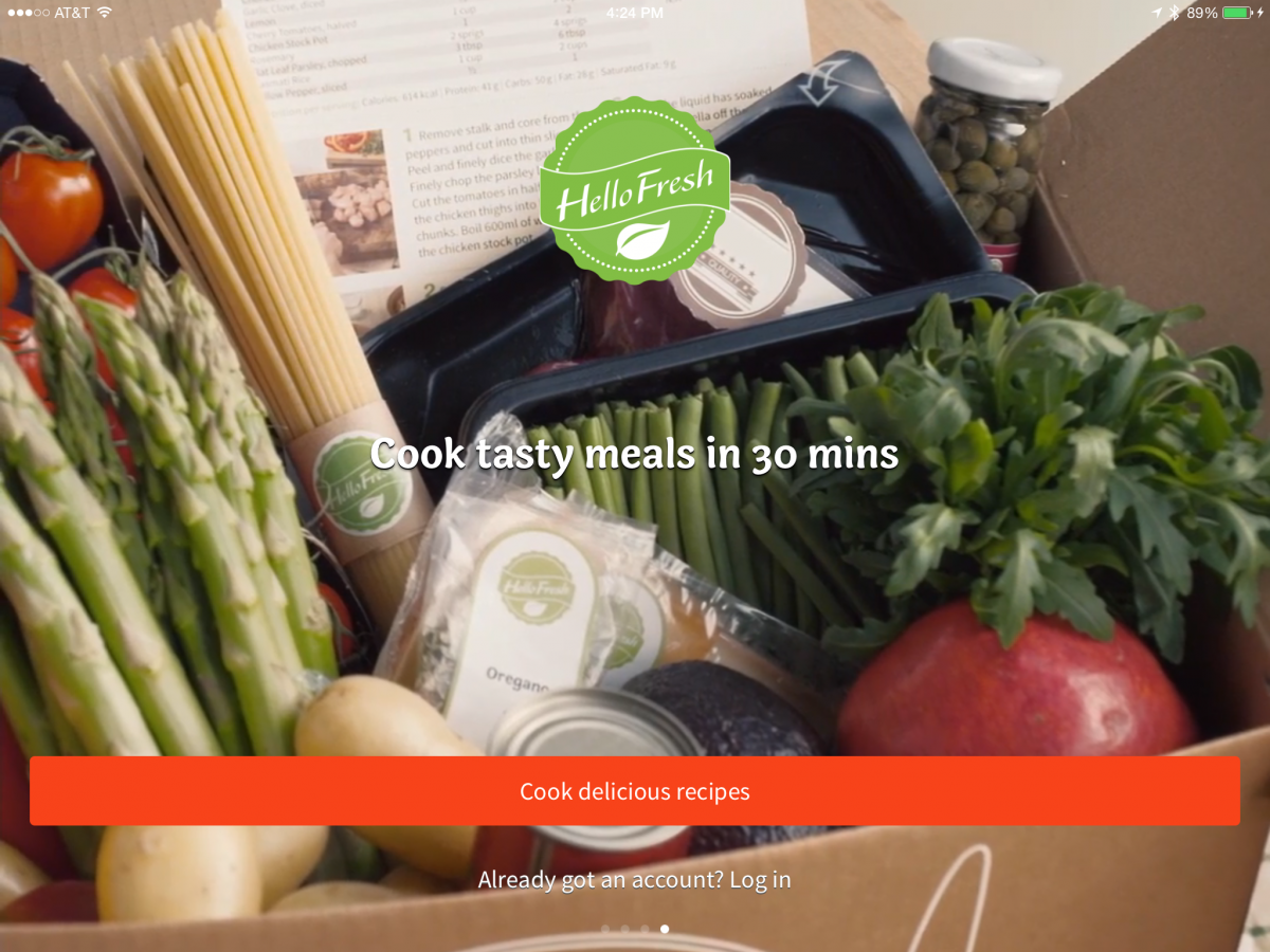 Hello Fresh and The New iPad App Might Turn Me Into a Cook!