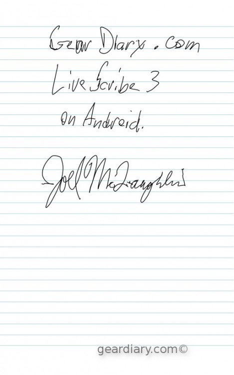 GearDiary LiveScribe 3 from an Android User's Perspective