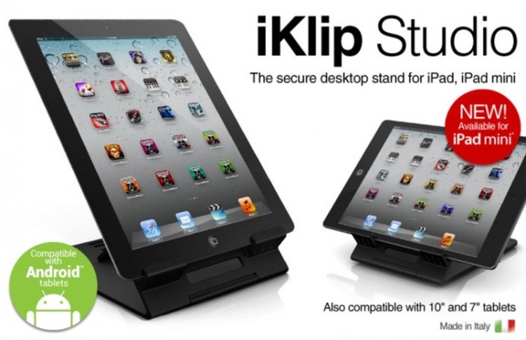 IK Multimedia iKlip Studio is a Tablet Stand for On the Go