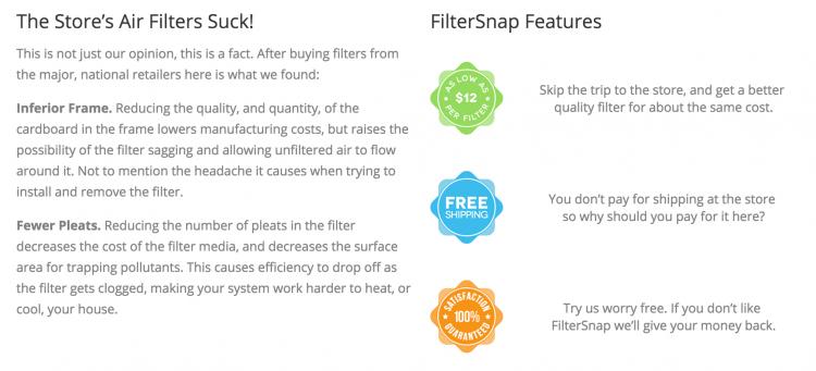 filter snap 1