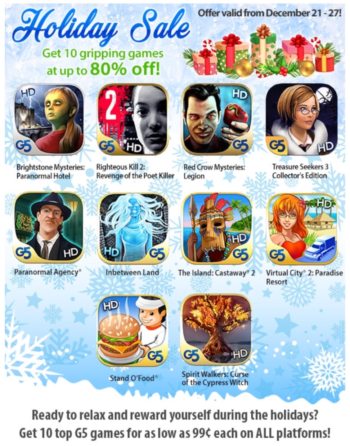 GearDiary G5 Holiday Sale: Get 10 Gripping Games at up to 80% off on All Platforms!