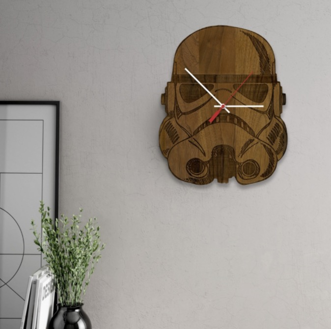 Make Every Minute a Star Wars Minute with these Laser Engraved Wood Clocks!