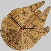 GearDiary Make Every Minute a Star Wars Minute with these Laser Engraved Wood Clocks!