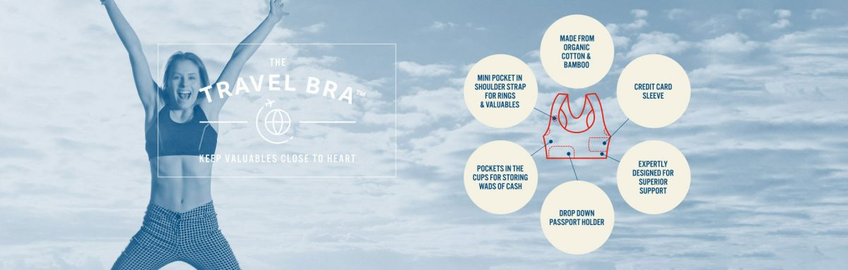 9e82fe4baf GearDiary The Travel Bra-Carry Your Valuables Close to Your Chest!