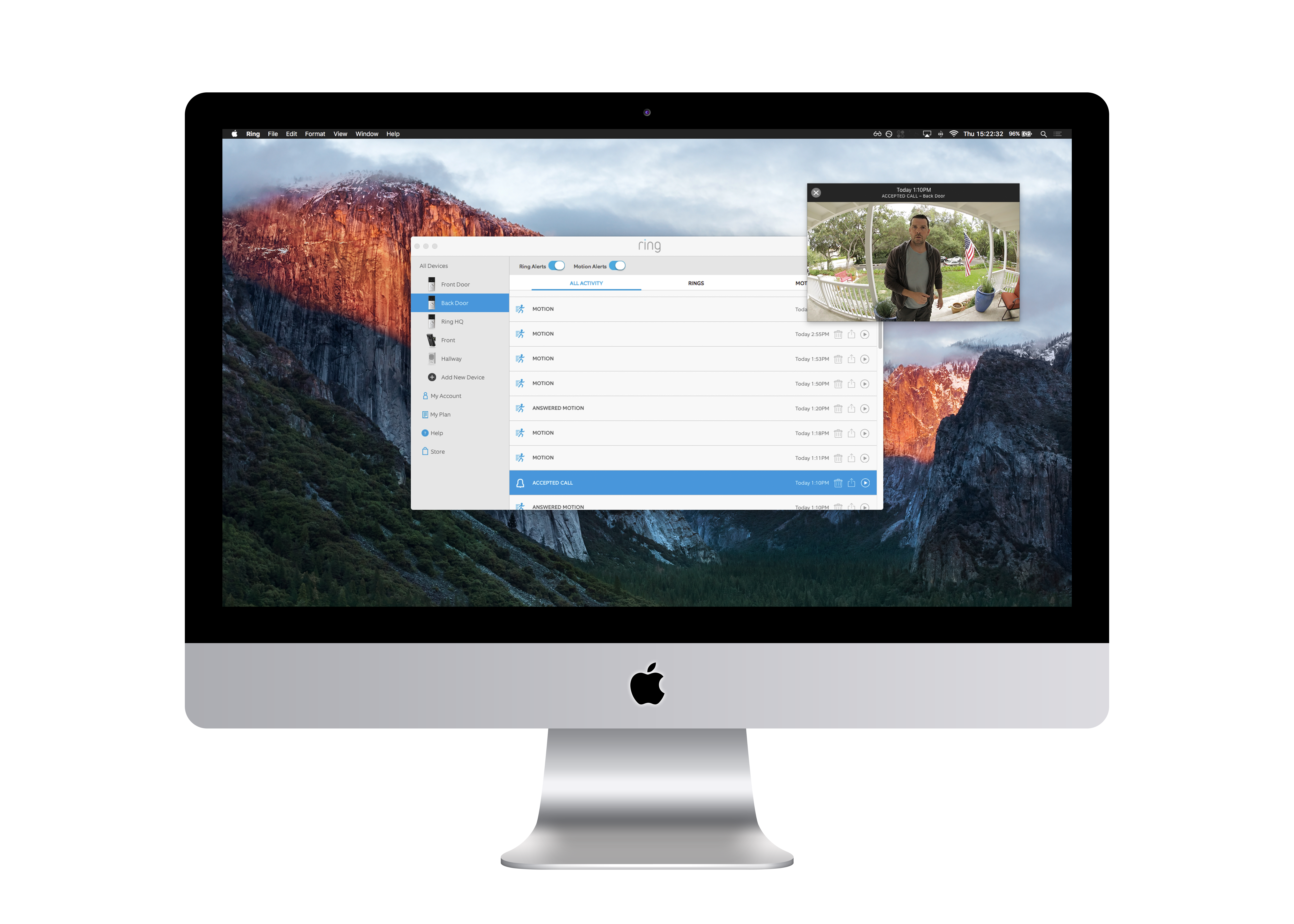 Monitor Your Home with the Ring Video Doorbell App for Mac