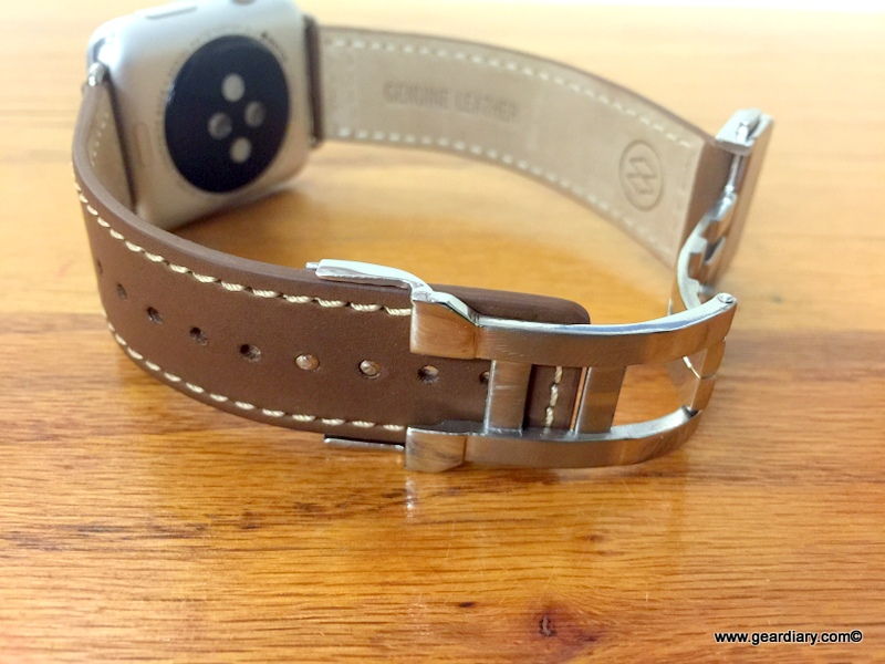 GearDiary New Monowear Leather Deployment Band For Apple Watch