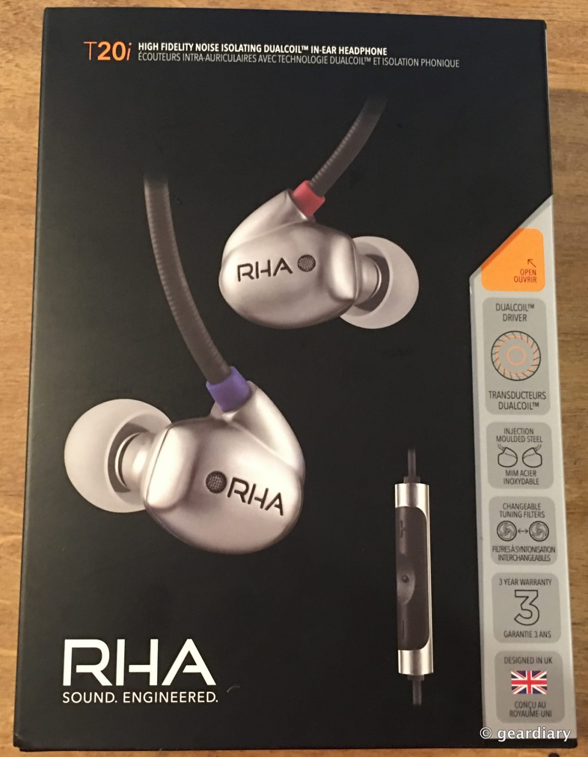 The Rha Audio T20i High Fidelity Noise Isolating In Ear Headphones Ma750i For Iphone Geardiary Review