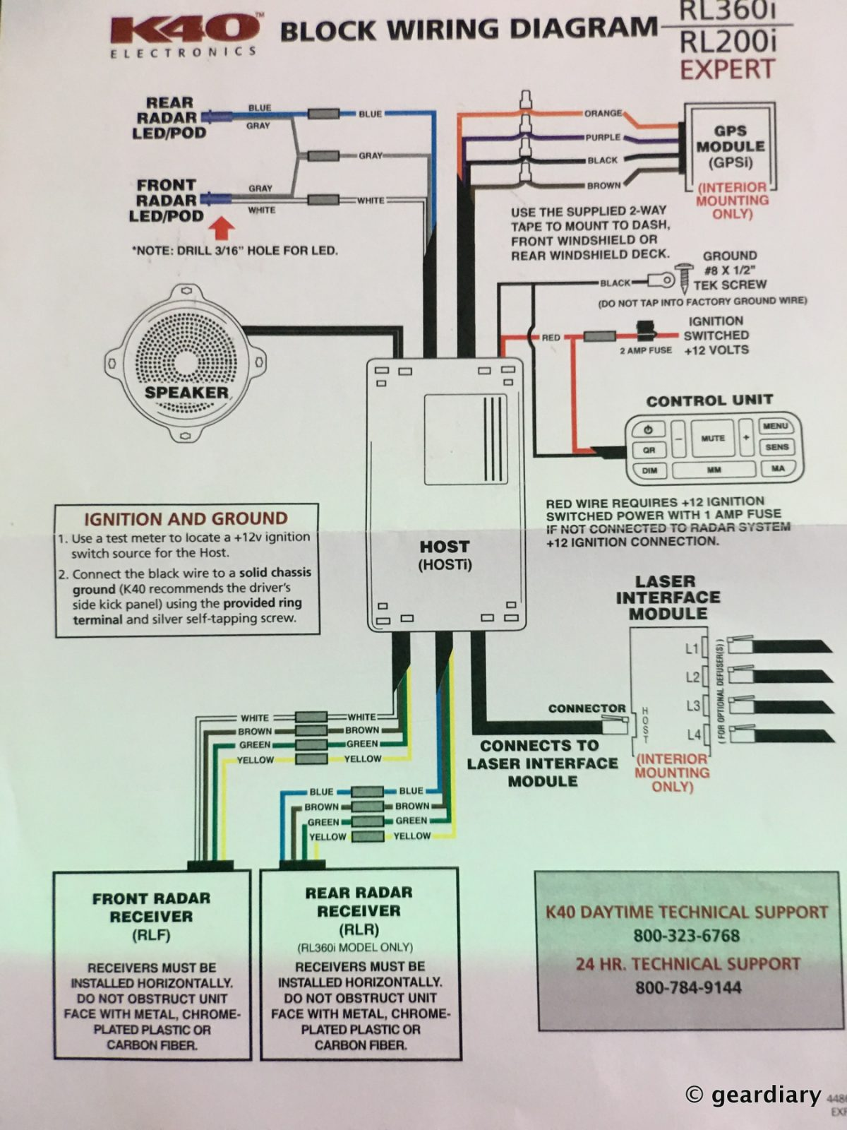 GearDiary 08-The K40 RL360i Custom Installed Radar Detector.49